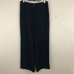 Armani Black Wide-Leg Pant